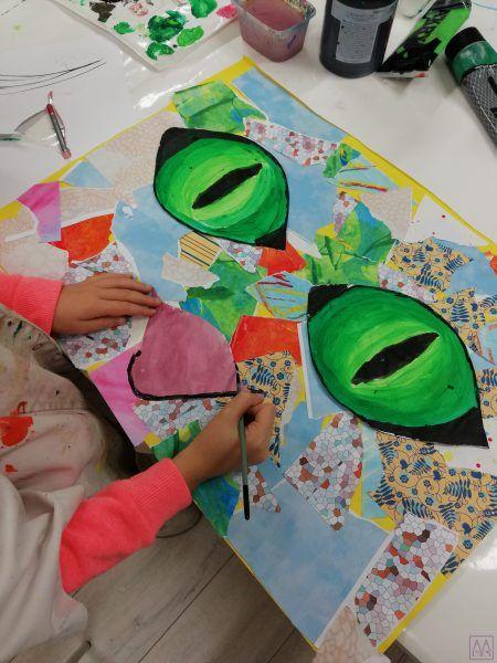 collage-grupa-dzieci-wykonuje-w-akademia-rysunku-poznan