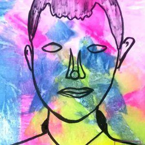 chlopiec-na-portrecie-malowany-przez-dziecko-w-akademia-rysunku