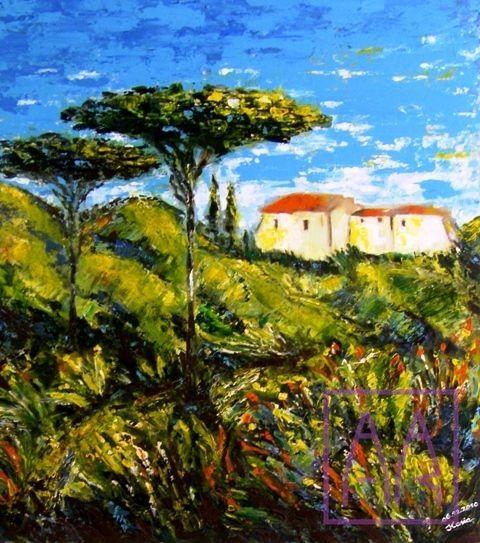 krajobraz-toskania-akryl-na-poltnie-Katarzyna-kowalska-zajecia-z-malarstwa-akademia-rysunku
