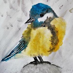 wrobele-ptaszyna-niewielka-akwarela-dzieci-lekcje-rysunku-w-poznaniu-w-akademia-rysunku