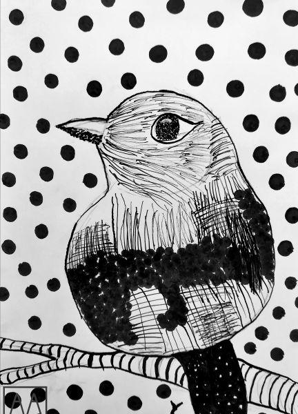 ptaszek-rysowany-tuszem-kurs-online-w-poznaniu