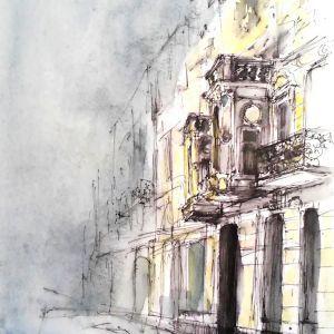 Oryszyn-obraz akrylowy- urbansketching-zajecia-w-akademia-rysunku