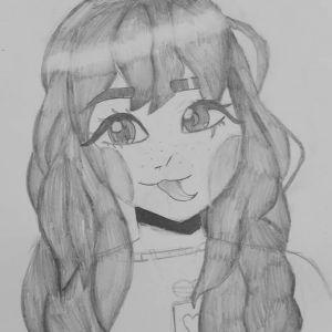 dziewczynka-manga-rysunek-olowkiem