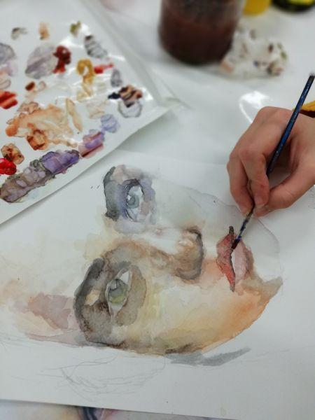 portret-malowany-akwarela-w-akademia-rysunku-na-lekcji-rysunku-w-poznaniu