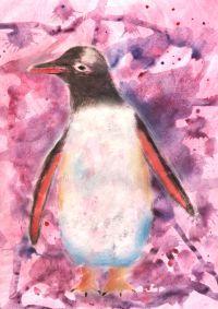 rozchlapywanie-akwareli-pingwin-wegiel-narysowany-w-akademii-rysunku-dzieci-7-lat
