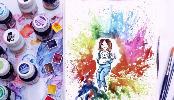 akwarela-w-malowaniu-mangi-w -akademia-rysunku-Agnieszki-opala
