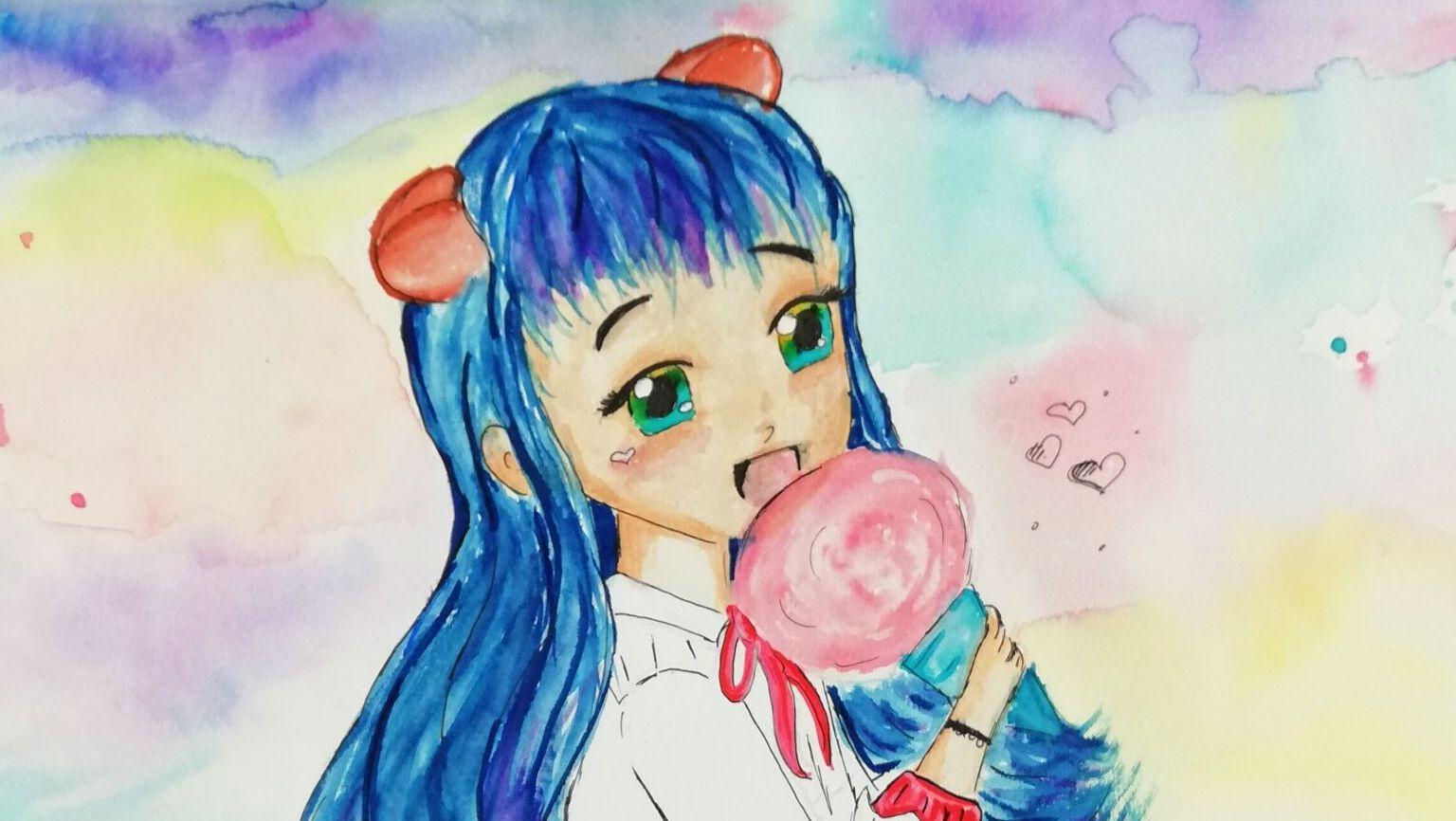 manga-dziewczynka-rysunek-scrapbooking-w-akademia-rysunku