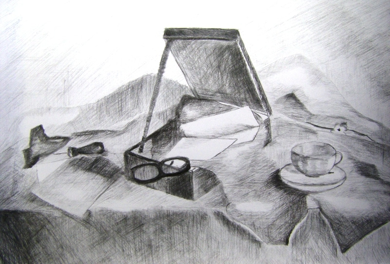 martwa-natura-olowek-namalowana-w-akademia-rysunku-Agnieszka-Opala