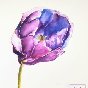 akwarela-tulipan-lekcje-malarstwa-akwarelowego-online