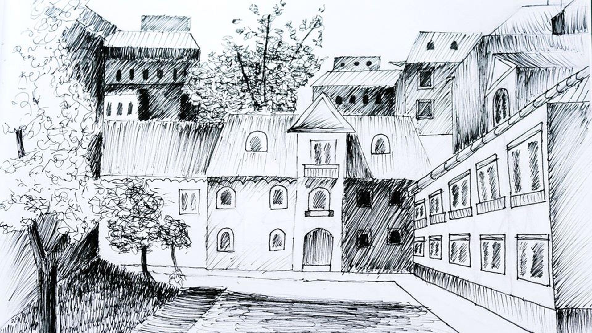 Kurs rysunku online perspektywa – Urban Sketching Poziom Podstawowy