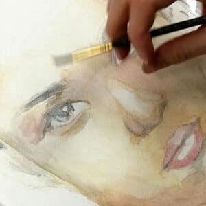 akwarela-portret-lekcja-rysunku